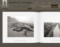 Website for Austin Granger, photographer and writer