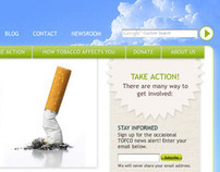 Website for Tobacco Free Coalition of Oregon