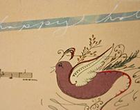Julie Rado Design Christmas 2010 Collage Card
