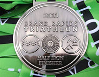 2013 Grand Rapids Triathlon Medals