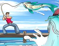 Fishing ~ Manga comic for Japan Div Fund