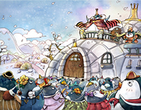 """Penguin Queen's Museum"" Picture book"