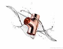 Copper Fitting With Splash