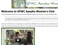 GFWC Apopka Woman's Club Website and Other Projects