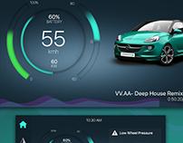 HMI concept for an electric car