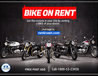 Rent a bike in Kolkata or Goa