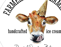 Farmers Cone Creamery Logo + Packaging