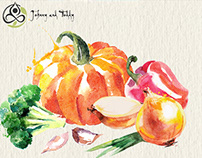 Shop of organic products - Watercolor