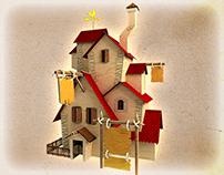 3D low poly buildings models