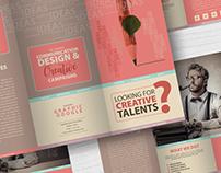 Free Creative Tri-Fold Brochure Template With Mockup