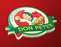 Logo & Mascote - Pizzaria Don Peter