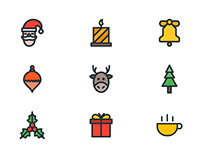 Christmas Iconset - Filled Outline
