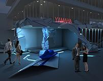 Design of entrance yamaha shop.