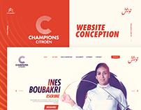 CHAMPIONS CITROËN Website Conception