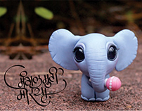 Little Cute Ganesh with Hindi Calligraphy 2