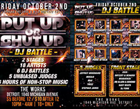 'Put Up Or Shut Up' {Flyer} [WBE]