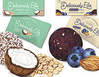 Deliciously Ella Energy Ball Packaging Illustrations