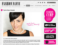 Pink Fashion Consultant Website Design