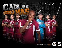 Calendario 2017 Saprissa y Gatorade
