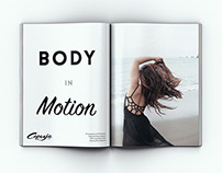Body in Motion Editorial Shoot