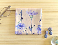 Handkerchief cornflowers& lavender