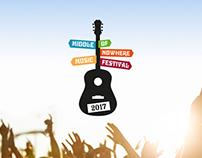 Middle of Nowhere Music Festival - Branding