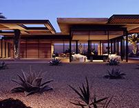 Shadow house in Saudi Arabia - 3d renderings