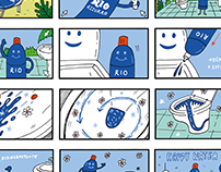 """Storyboard for """"Rio Azzurro"""" tv spot"""