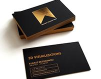 Wizard Production - Golden foil black business card