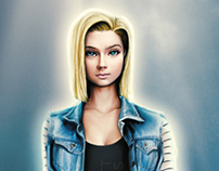 Android 18 inspired realistic design