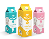 Design for a new line of milk products.
