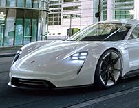 CGI Porsche Mission E Concept