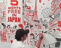Japantravel.com TVC Timelapse Illustration