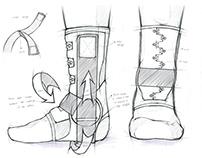 LP SUPPORT-Ankle Brace Sketch/Product Design