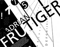 Frutiger Type Poster
