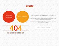 Erroite - Responsive 404 Error Page Bootstrap Template