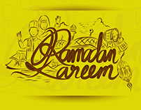 Ramadan Kareem and Eid Mubarak Handrawn Lettering