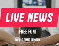 Freebie: Live News Free Font