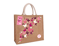 Asda Tickled Pink Jute Bag