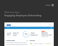 Visual Design of Welcome App