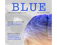 Blue Magazine Cover