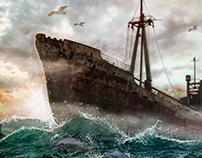 OLD SHIP - MANIPULAÇÃO DE FOTO