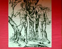 """Adam and Eve"" -Albrecht Dürer/ reproduction"