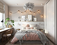 3D Architectural Rendering For A Refined Bedroom