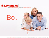 Immergas - landing page, web banners, pdf ...