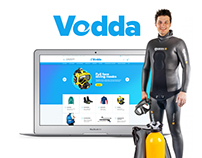 online store of goods for water sports. surfing. diving