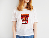 I'am Tiki, your Friend.. your Mask.. T-Shirt Design
