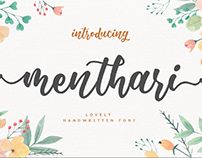 FREE | Menthari Lovely Handwritten Font