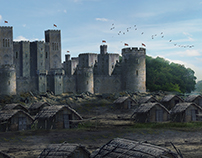 #MattePainting study from #RobinHood movie