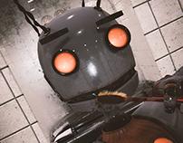 Robot character.